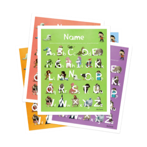 An image of the Lost My Name Personalized Alphabet Poster product