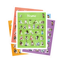 An image of the Lost My Name Personalised Alphabet Poster product